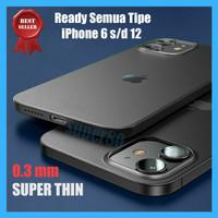 Casing iPhone 11 12 Mini Pro Max Ultra Slim Soft Hard Case Matte