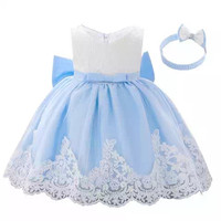 Dress anak perempuan gaun bayi baju pesta ulang tahun free ikat kepala