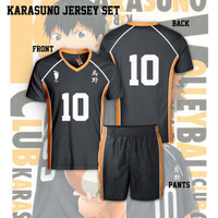 Jersey Setelan Baju Costume Anime Haikyuu Karasuno Team Vollyb