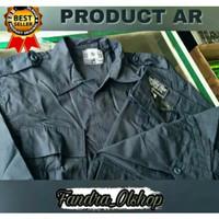 Baju Setelan PDL Hitam Brimob Merk AR bahan Ripstok / Drill.
