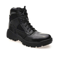 Handymen AR 018 sepatu PDL Army boot safety shoes kulit asli - Black
