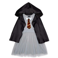 Harry Potter Sequin Costume Dress With Detachable Hooded size M 7-8T