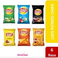 Lays Snack 184 gr (6.5 oz) - Lays Keripik Kentang Impor USA