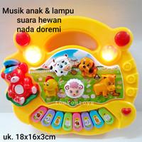ANIMAL FARM PIANO Mainan Edukasi Anak Musik Lagu Suara Hewan