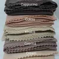 Jilbab segi empat Voal Premium Nanies- Bahan Adem/halus