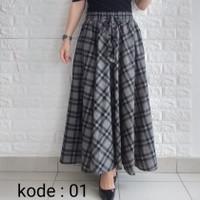 rok panjang wanita maxi skirt rok payung