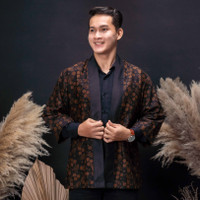 Jaket Kimono Batik Pria Asli Jambi Berkualitas - Zallatra JP15
