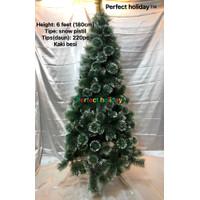 Pohon natal pistil salju / snow 6 feet (180cm),XLL-6