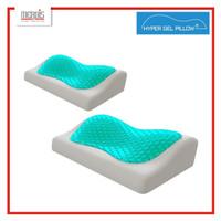 Hyper Gel Pillow isi 2 Bantal Memory Foam dengan Gel Pendingin