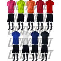 Stelan Futsal/Jersey Bola/Baju Futsal Celana Paketan + Kaos kaki Bola