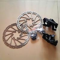 Rem cakram sepeda set odessy / kaliper rotor