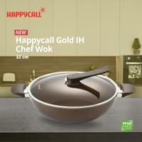 Happycall Gold IH Chef Wok 32cm Gold