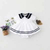 Bebe Fellas Romper Dress / Baju Bayi / 0-12 Bulan Girl - 0-3 Bulan