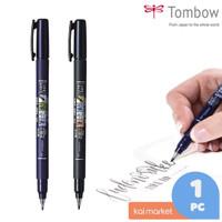 Tombow Fudenosuke Brush Pen Hard Tip & Soft Tip Art Maker Black Satuan