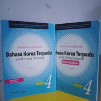 PAKET BAHASA KOREA TERPADU PLUS LATIHAN JILID 4 + CD audio