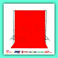 Background Photo merah polos 3 x 6 meter