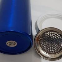 Botol Air MInum Penyaring Kopi Teh 250 ml warna biru