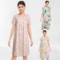 KORZ Rayon Print Home Dress Daster Wanita