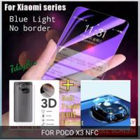 blue light tempered glass poco x3 nfc garskin kamera non list paket