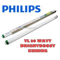LAMPU TL 36 WATT PHILIPS NYALA KUNING 3000K BRIGHTBOOST