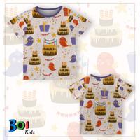 301KIDS Kaos Baju T-Shirt Anak Ulang Tahun Tema Hewan Jerapah Premium - BOI056-1, S