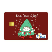 Kartu Flazz Limited Edition Christmas Maroon Berlogo Baru