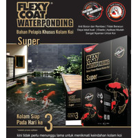 Flexy Coat Flexycoat Waterponding 2.5 kg Cat Pelapis Kolam Koi
