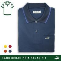 Crocodile COLE Midnight Blue - Baju Kaos Kerah Pria Men Polo Original