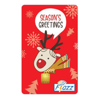 Kartu Flazz Limited Edition Christmas Merah Berlogo Baru