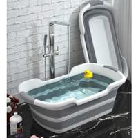 Set Tempat Mandi Bayi/Kolam/Bak Mandi Bayi Lipat Bathtub Foldable