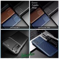 softcase realme 7 pro realme 7 case rugged carbon fiber armor silicon