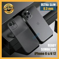 Case Super Slim iPhone XS XR Max 11 12 Mini Pro Doff Casing Transparan