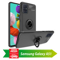 Soft Case Casing Samsung Galaxy A51 Autofocus Magnetic i Ring