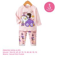 Setelan Baju Tidur Anak Perempuan Import Panjang Sofia A Shirton - SOFIA A PP, Size 55