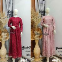 Kebaya Dress Tulle Gamis Wanita Pesta Maymunah Rosegold Dan Lain nya