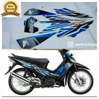 striping list stiker motor supra x 125 d hitam biru