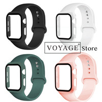 Hard case cover apple watch 40mm tempered glass anti gores iwatch 4 5