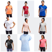 ADIDAS Baju Gym / Running / Fitness / Olahraga Wanita Sport Tshirt