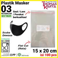 Plastik OPP LEM TIPIS 15x20 CM Bungkus masker scuba undangan Kue