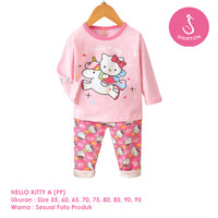 Setelan Baju Tidur Anak Perempuan Import Panjang Hello Kitty A Shirton