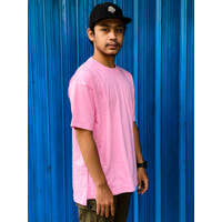 Kaos Oversized Polos Combed 20s (Tebal) - Rose / Pink Muda