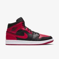 Nike Air Jordan 1 Mid Banned 2020 University Red Black ORIGINAL BNIB