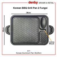 Korean yakiniku Grill Pan / Panggangan BBQ (bisa utk kompor listrik)
