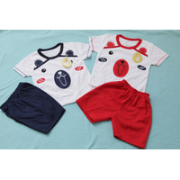 Setelan Oblong Kaos untuk Bayi Usia 0-12 Bulan - BEAR MERAH