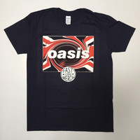 Kaos / T-Shirt Band Oasis - Union Jack Navy Official Merchandise