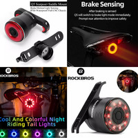 Rockbros Lampu Sepeda Lipat MTB Roadbike Balap Fixie Taillight Q1 Q5