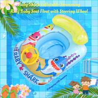 Ban pelampung baby shark / inflatable swimming ring baby seat float