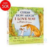 Pop Up 3D Board Book GUESS HOW MUCH I LOVE YOU You Buku Cerita Anak