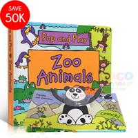Pop Up 3D Board Book Pop And Play ZOO ANIMALS Buku Cerita Anak