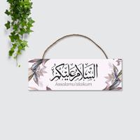 Hiasan Dinding Pajangan Walldecor Islami Kaligrafi ASSALAMUALAIKUM